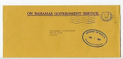 Bahamas cover used Nassau Ministry of Health oval official 1982 (J908)