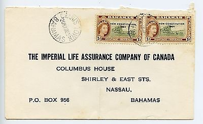 Bahamas cover used Grants Town 25mm CDS 1965 (L529)