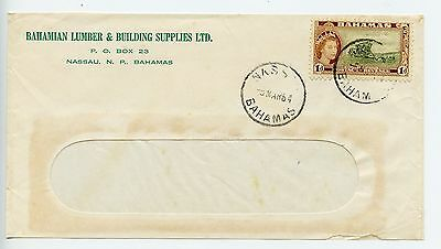 Bahamas cover used Nassau  Lumber & Building Supplies 1964, front only(L137)