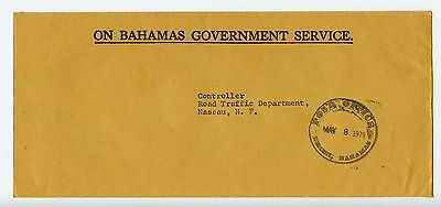 Bahamas cover used Bimini Post Office official 1979 (L524)