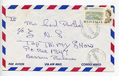 Bahamas cover used Green Turtle Cay 1968 (J195)