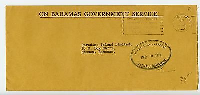 Bahamas cover used Nassau Customs official 1978 (L545)