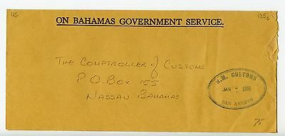 Bahamas cover used San Andros 1978 official  (K856)