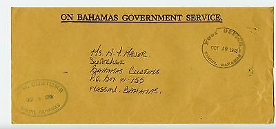 Bahamas cover used Bimini Customs official 1978 (L525)