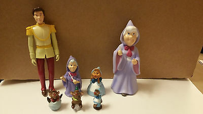 Disney Cinderella pvc Figures Prince Charming Fairy Godmother Jaq and Gus