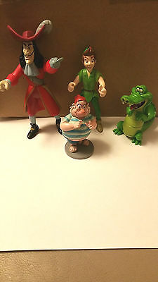 Disney Store Figures  Peter Pan Captain Hook  Mr Smee and Tick-Tock  Crocodile