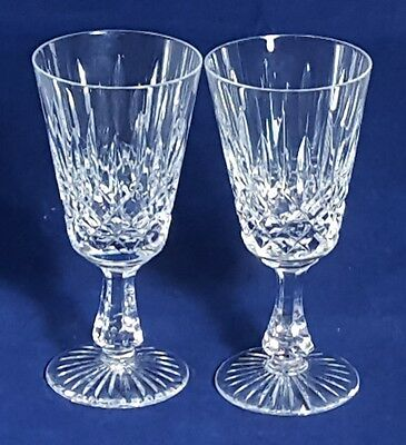 Beautiful Pair of High Quality Heavy  Stuart Crystal Wine Glasses (Signed)