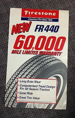 Vintage Firestone FR440 Radial Tire Advertising Sign