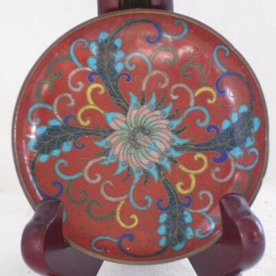 Small Chinese Cloisonne Dish With A Floral Decoration