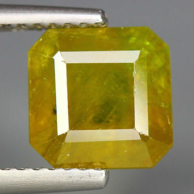 2.96 Cts_Simmering Ultra Nice Gemstone_100 % Natural Green  Sphene_Russia