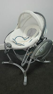 Graco Baby Soothing System Glider Elite Gliding Swing Rocker Bouncer Seat Music