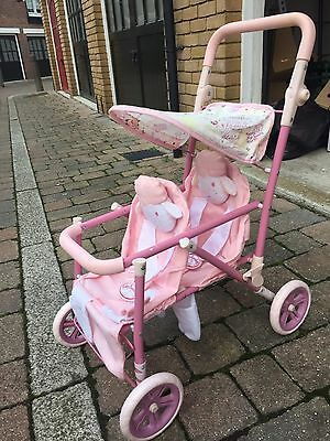 Baby Annabell Double Buggy Pushchair Pram