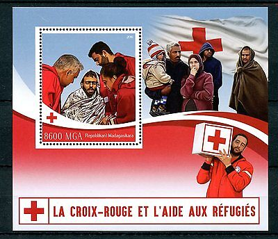 Madagascar 2016 MNH Red Cross & Aid to Refugees 1v S/S Medical Health Stamps