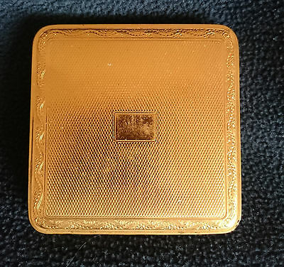 Vintage Mascot ASB gold couloured metal Cigarette Case