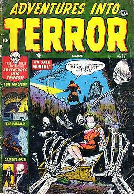 VINTAGE  HORROR  COMICS COLLECTION  on 3 PRINTED DVDs