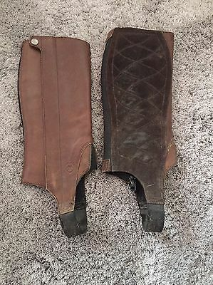 Ariat Child's Leather Chaps Brown Kids M