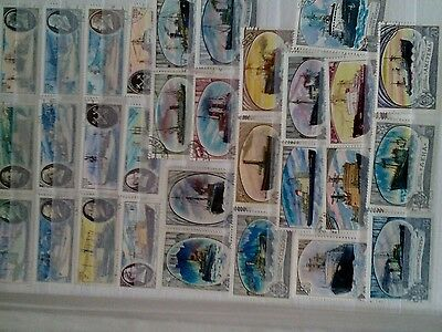 120 ship stamps. Mainly used. Various countries..