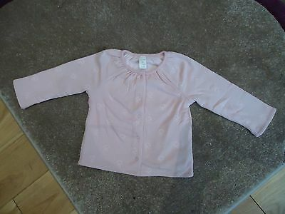 Baby Girls Reversible Pink Jacket Top By Baby Gap Age 6-12 Months