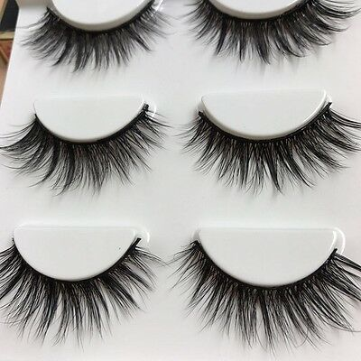 Hand made 100% Real Mink Luxurious Natural Thick soft  lashes False eyelashes D5
