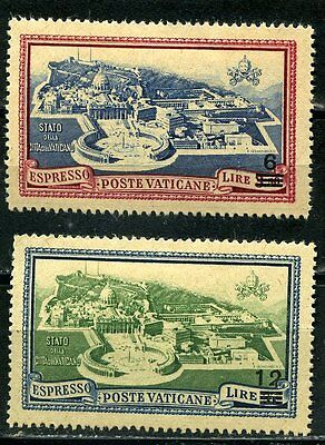 1946 Express Delivery MH Stamps from Vatican SG 118 & 119. 1933 Ovpt 6L & 12L MH