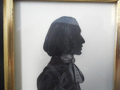 Antique silhouette profile of George Sands