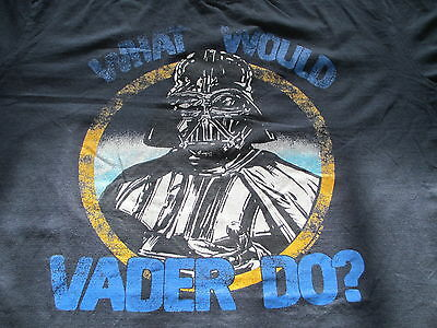 Star Wars Darth Vader What Would Vader Do Navy Blue T Shirt Size XL X-Large