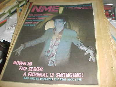 """NME: """"May 12/84"""" NICK CAVE/HOLGER CZUKAY/NENA live in London"""