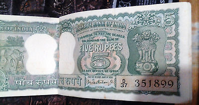 Unc 5 Rupees Diamond Issue Note: Signed Gov. P C Bhattacharyac-8  Year 1968