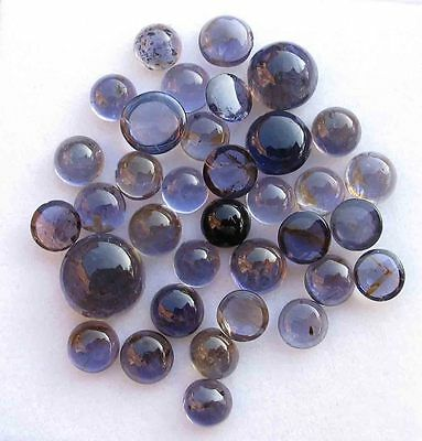 20.40 CT Natural Blue Iolite Gemstone Round Cabochon Wholesale Lot
