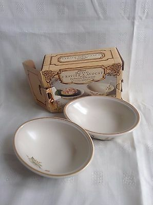 Harvest Avocado Dishes Boxed X 2- Marks And Spencer M&s Excellent Condition