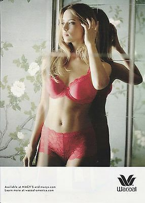 2015 Wacoal panties and bra lingerie  print ad Great to frame!