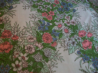Vintage 1960s fabric remnants x 2 for upholstery or sewing project