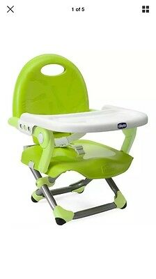 Chicco Pocket Snack Booster Seat Lime Green New