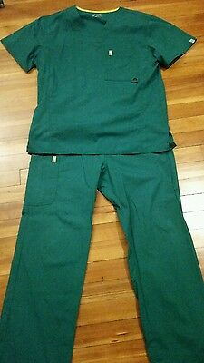 Mens Code Happy scrubs. Top and Bottom