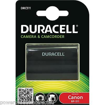 Canon BP-511,BP-511A compatible battery from Duracell Fits Canon EOS etc
