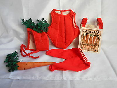 Tender Heart Treasures CARROT Bear Clothing Outfit with Gardening Bag