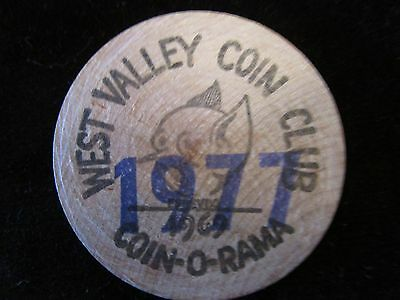 West Valley Coin Club wooden coin-1977