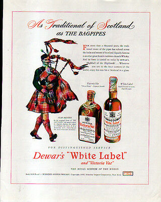 1946 Dewar's White Label Ad- Clan Menzies