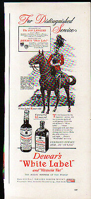 1942 DEWAR'S WHITE LABEL AD- THE 16th LANCERS
