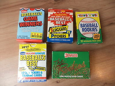 MLB Baseball Lot Of 5 Vintage Complete Factory Sets New