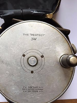 """Hardy """" The Perfect"""" 3 3/4"""" Fly Reel Used with case"""
