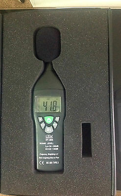 Sound Level Meter (30-130dB) CEM DT-805, Case & Instructions Used Once