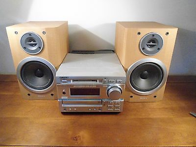 Sony Surround Sound System HCD-MD373 MiniDisc CD PLAYER+ HI FI Speakers Set Up