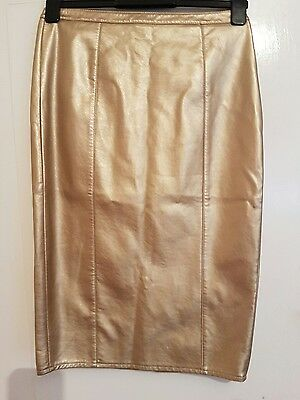 Dorothy Perkins Gold Pencil Skirt