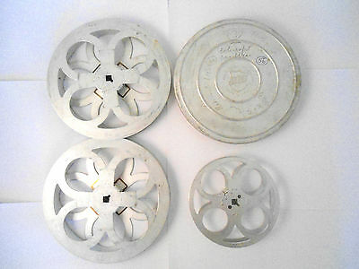 Vintage Film Reel/Spool Joblot  Bell and Howell, CYLDON ENGLAND 17mm-19mm PROPS