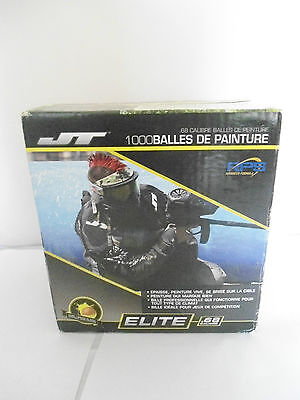 New Jt Elite .68 Calibre 1000 Paintballs Rps Advance Yellow Fill -