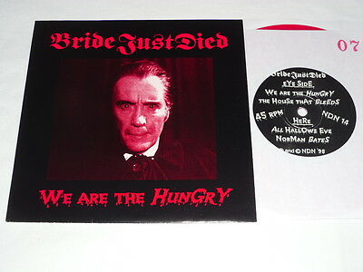 BRIDE JUST DIED - We Are The Hungry RED VINYL LIMITED EDITION