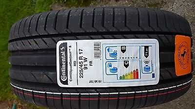Brand New 225 45 17 91W Continental Tyre