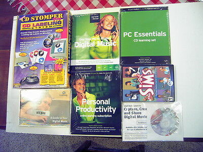 CD Stomper CD Labeling System,Sims,Digital Music,Musicmatch,MORE All NIP Sealed