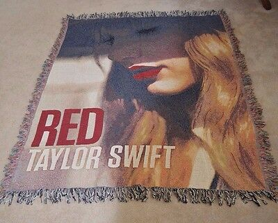 Red Taylor Swift Album Cover Blanket 62 x 53